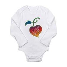 Anoush Heart Long Sleeve Infant Bodysuit