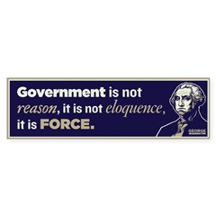 Washington On Government Sticker (Bumper 50 pk)