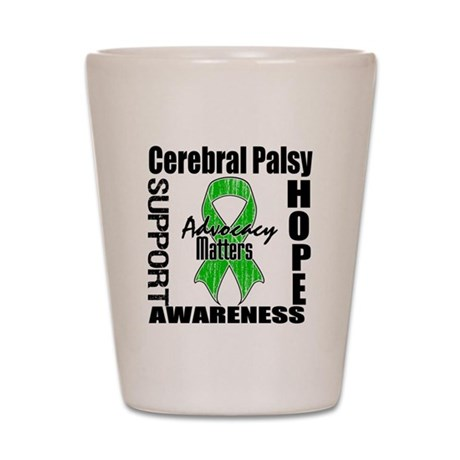 Cerebral Palsy Advocacy Shot Glass