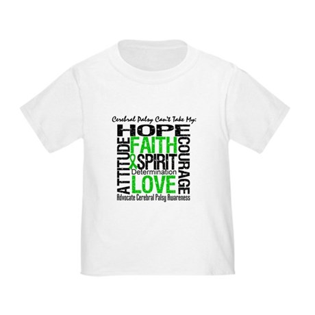 Cerebral Palsy Can'tTakeHope Toddler T-Shirt