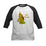 I Am Three Elephant Kids Baseball Jersey