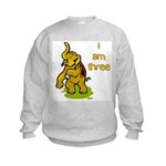I Am Three Elephant Kids Sweatshirt