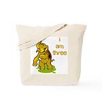 I Am Three Elephant Tote Bag