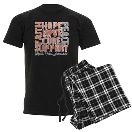 Hope Uterine Cancer Men's Dark Pajamas