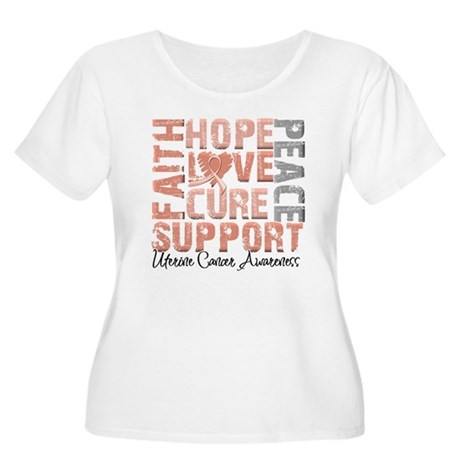 Hope Uterine Cancer Women's Plus Size Scoop Neck T