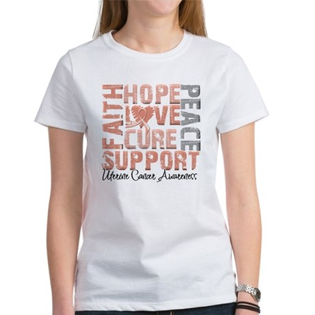 Hope Uterine Cancer Women's T-Shirt