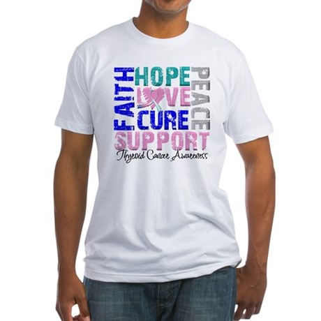Hope Thyroid Cancer Fitted T-Shirt