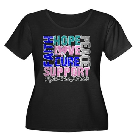 Hope Thyroid Cancer Women's Plus Size Scoop Neck D