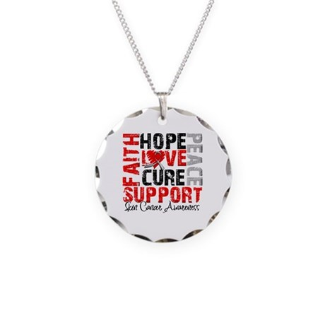 Hope Skin Cancer Necklace Circle Charm