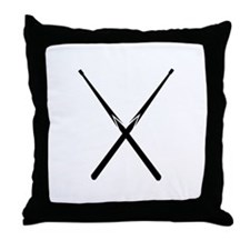 Billiards cue Throw Pillow