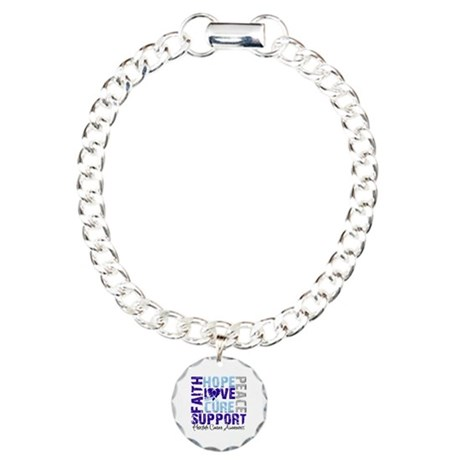 Hope Prostate Cancer Charm Bracelet, One Charm