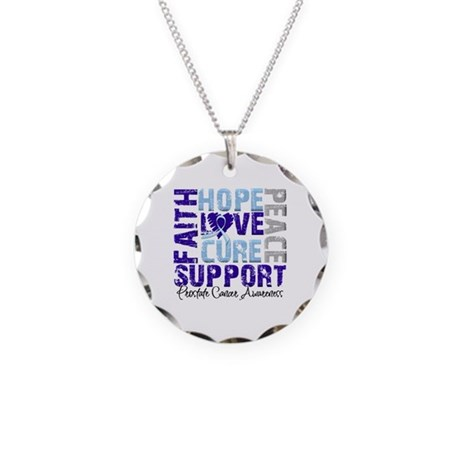 Hope Prostate Cancer Necklace Circle Charm