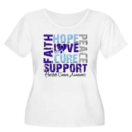 Hope Prostate Cancer Women's Plus Size Scoop Neck
