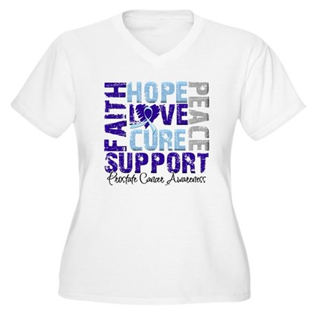 Hope Prostate Cancer Women's Plus Size V-Neck T-Sh