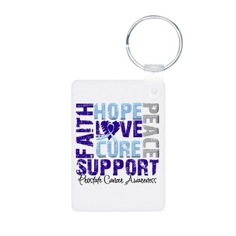 Hope Prostate Cancer Aluminum Photo Keychain