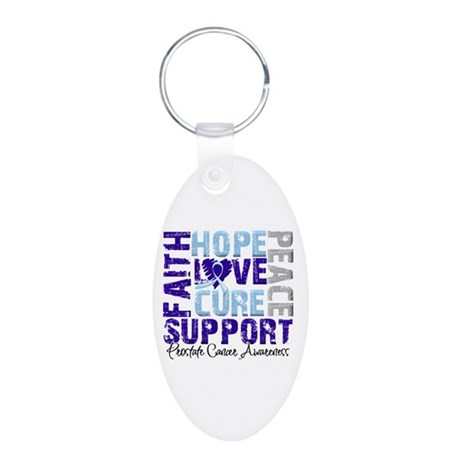 Hope Prostate Cancer Aluminum Oval Keychain
