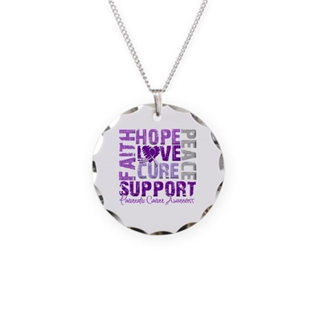 Hope Pancreatic Cancer Necklace Circle Charm