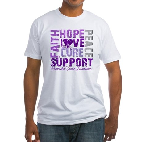 Hope Pancreatic Cancer Fitted T-Shirt