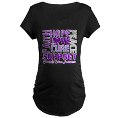 Hope Pancreatic Cancer Maternity Dark T-Shirt