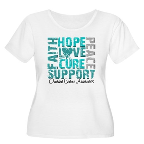 Hope Ovarian Cancer Women's Plus Size Scoop Neck T