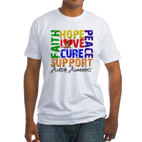 Hope Autism Fitted T-Shirt