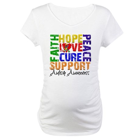 Hope Autism Maternity T-Shirt