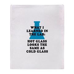 Lab Glass Throw Blanket