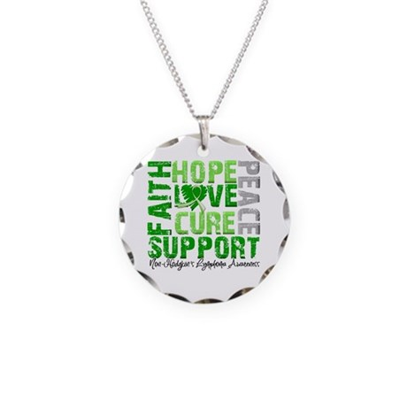 Non-Hodgkin's Lymphoma Necklace Circle Charm