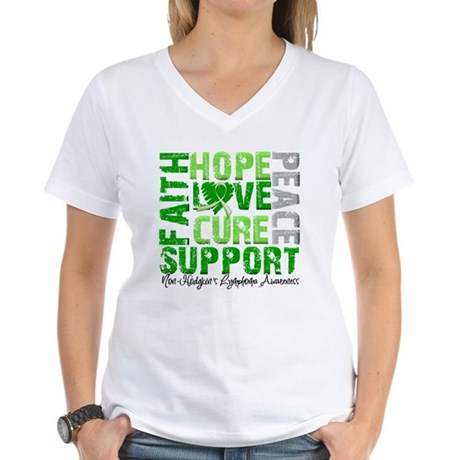 Non-Hodgkin's Lymphoma Women's V-Neck T-Shirt