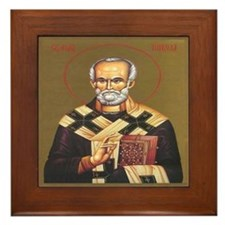 Sv. Nikola Framed Tile
