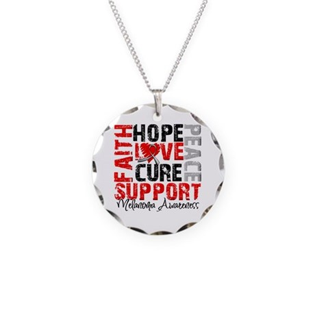 Hope Melanoma Necklace Circle Charm