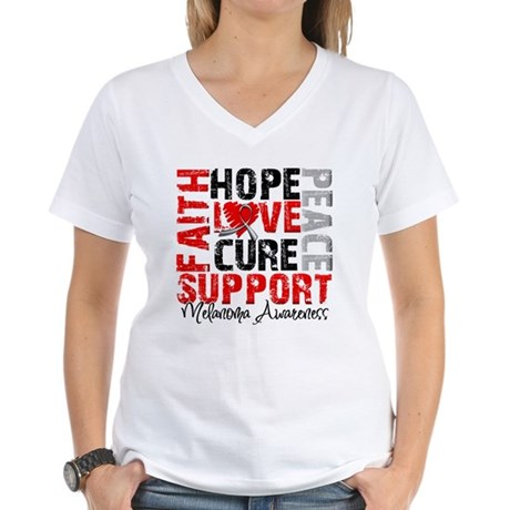 Hope Melanoma Women's V-Neck T-Shirt