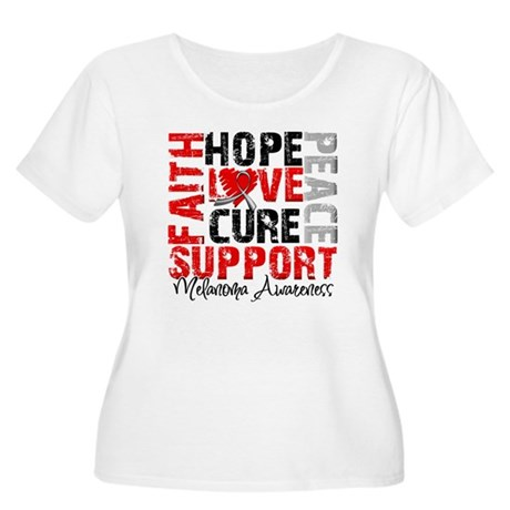 Hope Melanoma Women's Plus Size Scoop Neck T-Shirt