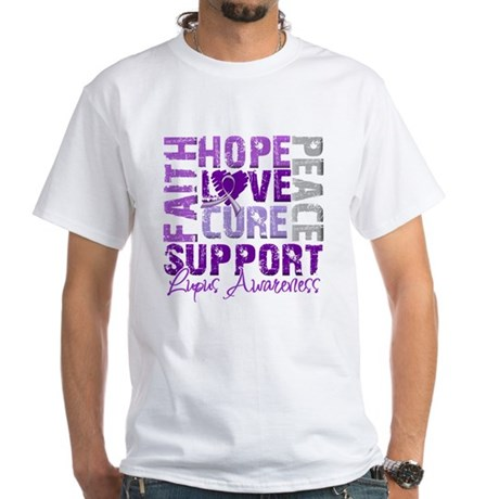 Hope Cure Lupus White T-Shirt