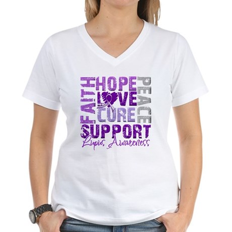 Hope Cure Lupus Women's V-Neck T-Shirt