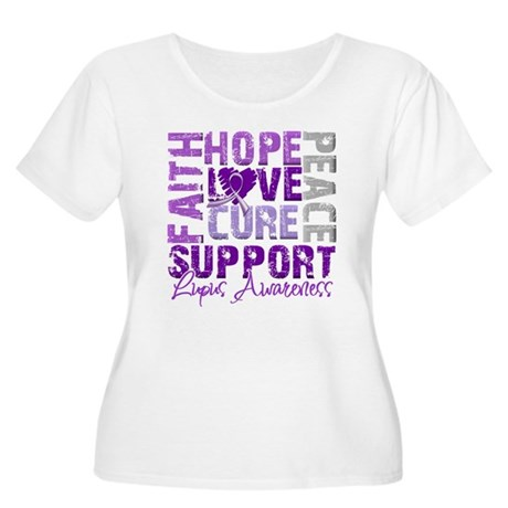 Hope Cure Lupus Women's Plus Size Scoop Neck T-Shi