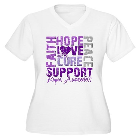 Hope Cure Lupus Women's Plus Size V-Neck T-Shirt