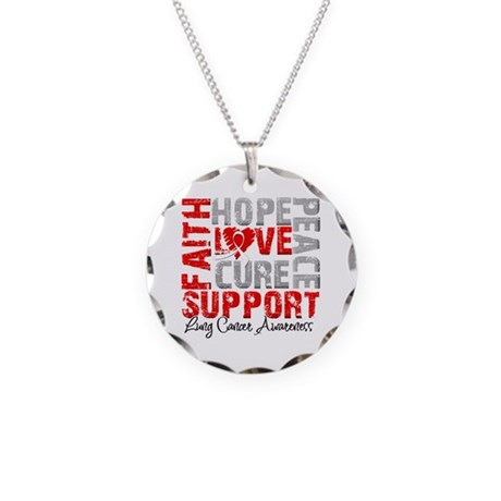 Hope Lung Cancer Necklace Circle Charm