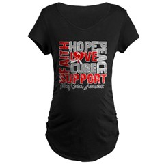 Hope Lung Cancer Maternity Dark T-Shirt