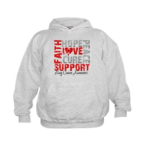Hope Lung Cancer Kids Hoodie