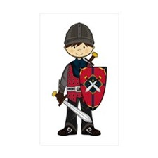 Cute Medieval Knight Sticker (50 Pk)