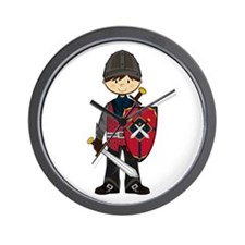 Cute Medieval Knight Wall Clock