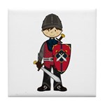 Cute Medieval Knight Tile Coaster