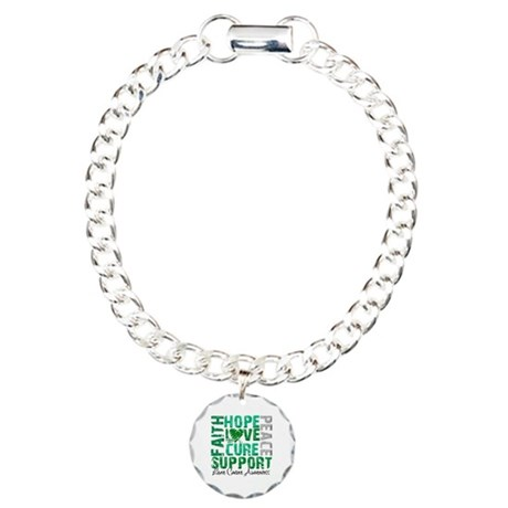Hope Liver Cancer Charm Bracelet, One Charm