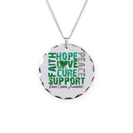Hope Liver Cancer Necklace Circle Charm