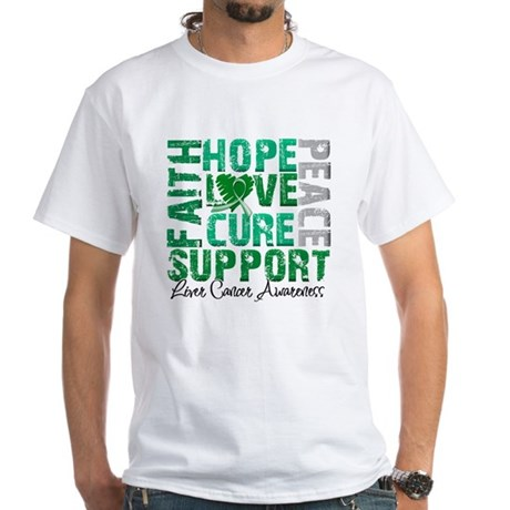 Hope Liver Cancer White T-Shirt