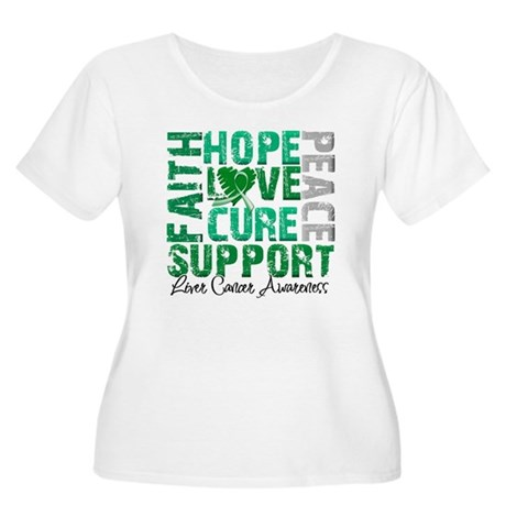 Hope Liver Cancer Women's Plus Size Scoop Neck T-S