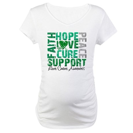 Hope Liver Cancer Maternity T-Shirt