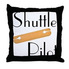 Shuttle Pilot Throw Pillow