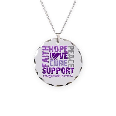 Hope Leiomyosarcoma Necklace Circle Charm